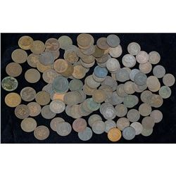 Provincial Copper Coin Lot of 134 Coins