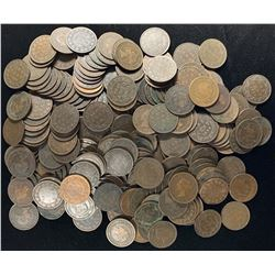 Vicky Large Cents - Lot of 236 Coins