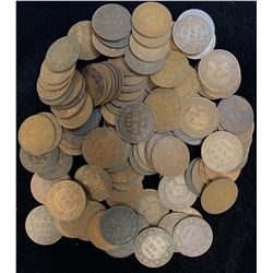 Edward VII Large Cents - Lot of 113 Coins