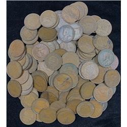 George V Large Cents - Lot of 126 Coins