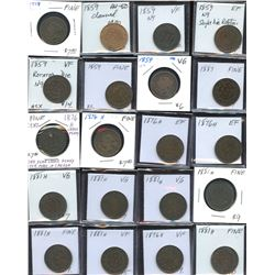 Large Cents - Lot of 74 Coins