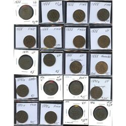 Large Cents - Lot of 79 Coins