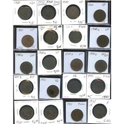 Large Cents - Lot of 71 Coins