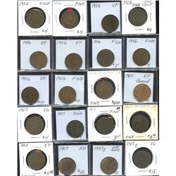Large Cents - Lot of 51 Coins