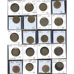 Large Cents - Lot of 46 Coins