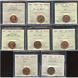 One Cent ICCS Group - Lot of 8