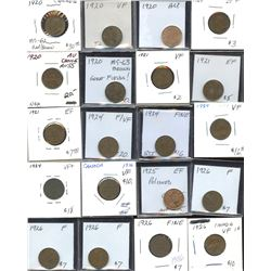 Small Cents - Lot of 74 Coins
