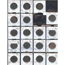 Canada Copper Coin Lot of 81 Pcs.