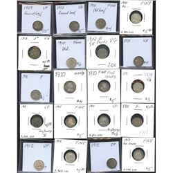 Five Cents - Lot of 74 Coins
