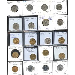 Five Cents - Lot of 73 Coins