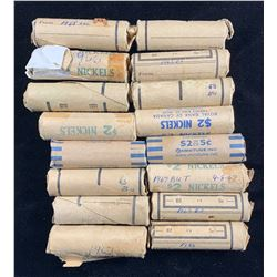 Five Cents - Lot of 16 Rolls