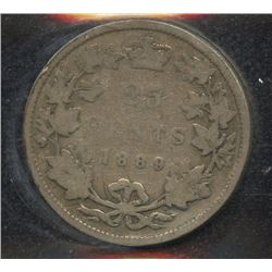 1889 Twenty-Five Cents