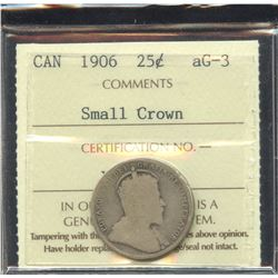 1906 Twenty-Five Cents - Small Crown