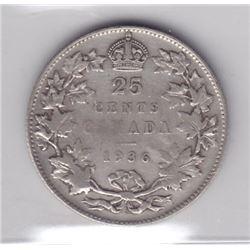 1936 Twenty-Five Cents - Dot Variety