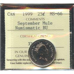 1999 Twenty-Five Cents - September Mule