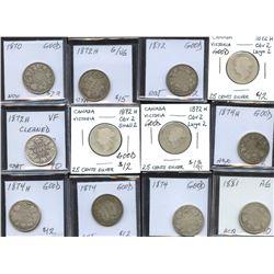 Twenty-Five Cents Dealer Lot of 42 Coins