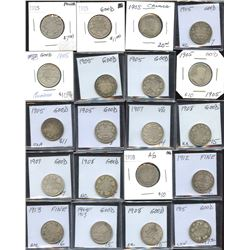 Twenty-Five Cents Dealer Lot of 72 Coins