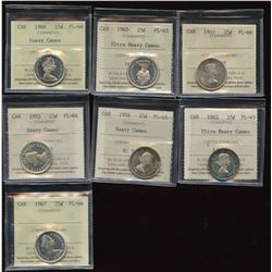 Twenty-Five Cents - 7 Top Quality ICCS Proof Like Coins