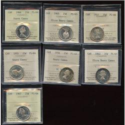 Twenty-Five Cents - 7 Top Quality ICCS Proof Like Coins
