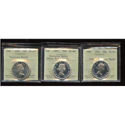 Victoria North Trio of ICCS Graded Fifty Cents
