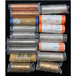 Canadian Coin Rolls - Lot of 16