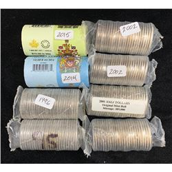 Original Half Dollar Mint Rolls - Lot of 8