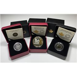 RCM Lot of Three 2014 Fine Silver Coins