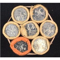 Canada 25 Cent Mint Roll lot