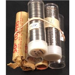 Canada 1 & 5 Cent Roll Lot