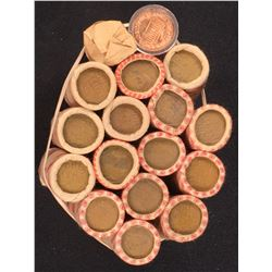 US 1 Cent Wheat & Lincoln Penny Rolls