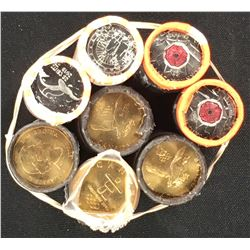 Canada 25 cent and 1 Dollar Toonie Mint Roll Lot