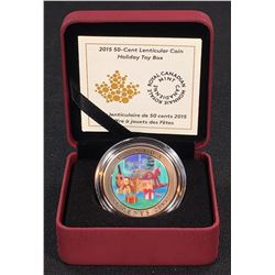 2015 - 50-cent Canada Holiday Toy Box Lenticular Coin