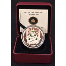 2011 - $20 Canada Christmas Tree Fine Silver Coin (NO TAX)
