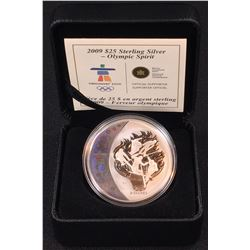 2009 - $25 Canada Olympic Sterling Silver Hologram - Olympic Spirit