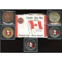 Canada's Own Flag 1967 Centennial Group. Lot of 6