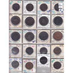 Lot of 73 Nova Scotia tokens