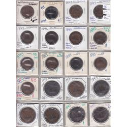 Lot of 40 New Brunswick tokens