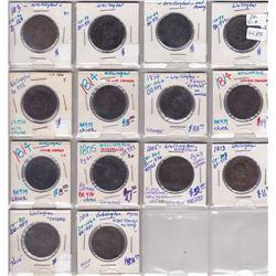 Lot of 14 Wellingtons tokens