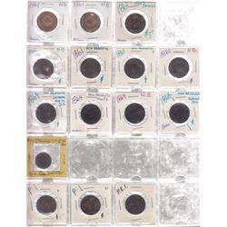 Lot of 133 pre-confederation decimal coins.