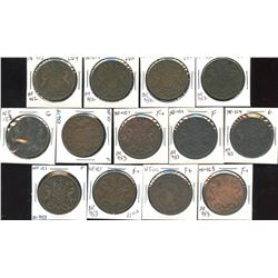 Lot of 13 Rutherford tokens