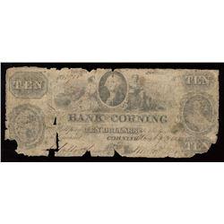 Bank of Corning $10, 1852