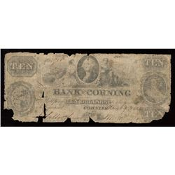 Bank of Corning $10, 1852