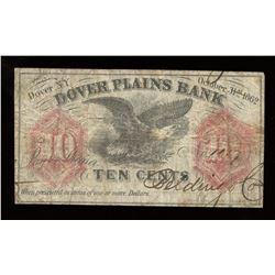 Dover Plains Bank Ten Cents, 1862