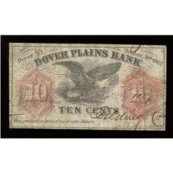 Dover Plains Bank Ten Cents, 1862