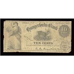 Hungerfords Bank Ten Cents, 1862