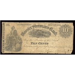 Wooster Sherman's Bank Ten Cents, 1862