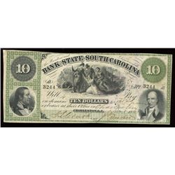 Bank of the State of South Carolina $10, 1861