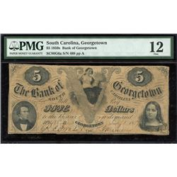 South Carolina, Georgetown $5, 1859