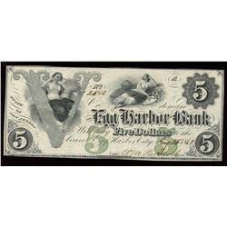 Egg Harbor Bank - Egg Harbor City, NJ $5, 1861