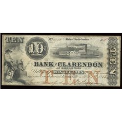 Bank of Clarendon $10, 1855